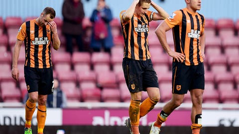 Hull City stares into the abyss after second-half collapse at West Ham