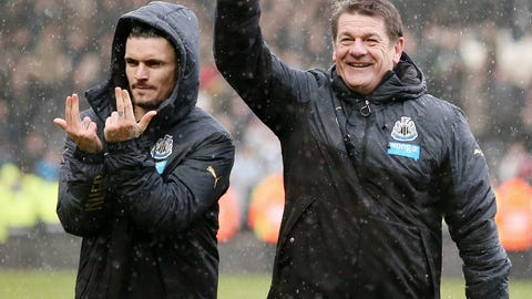 John Carver celebrates his appointment with emphatic victory at Hull City