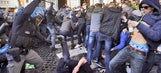 Feyenoord fans clash with police in Rome ahead of Europa League game