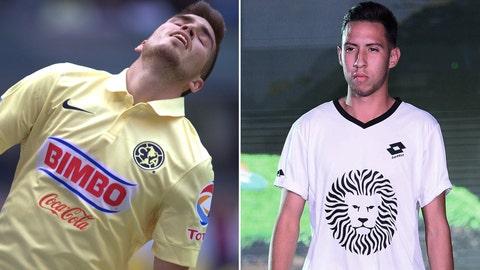 Ventura Alvarado, Club América defender and Jesus Vazquez, Leones Negros