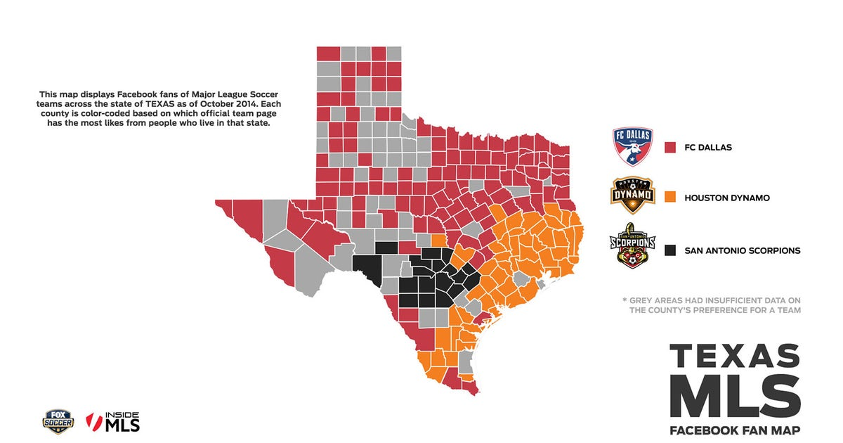 FOX Soccer Facebook combine to map out MLS fans in USA and Canada