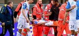 Chievo midfielder Mattiello suffers horrific broken leg vs. Roma