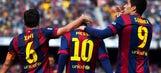 With Messi's hat trick, Barcelona thrash Rayo Vallecano and move to top of La Liga