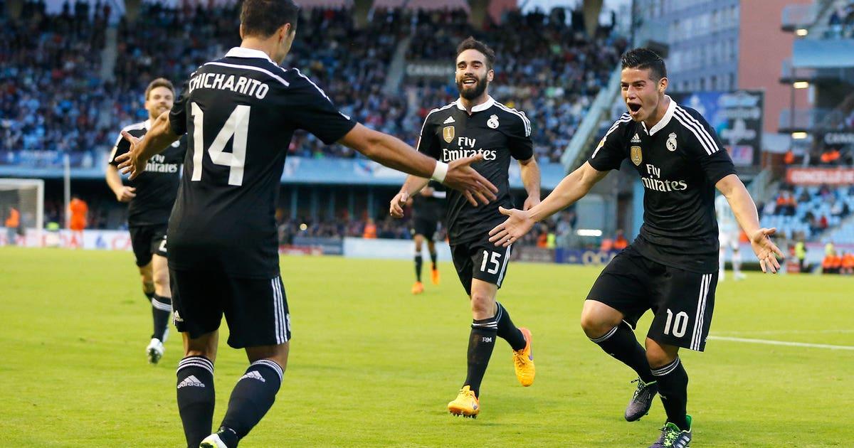 60f5c30a3 Chicharito scores twice as Real Madrid dispatch Celta Vigo
