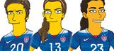 USWNT stars get 'Simpsonized' ahead of World Cup voyage