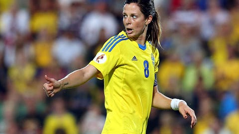 Lotta Schelin, Sweden, Striker