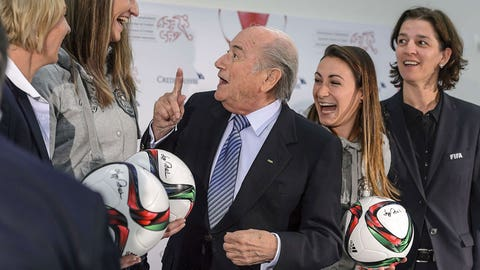 Blatter's erratic behavior, comments continue (2011-13)
