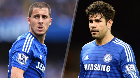 Eden Hazard, Midfielder, Chelsea & Diego Costa, Striker, Chelsea