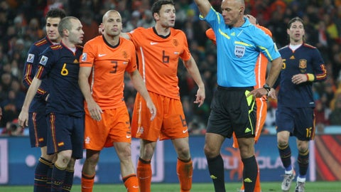 Howard Webb, Netherlands vs. Spain, 2010 Men's World Cup Final