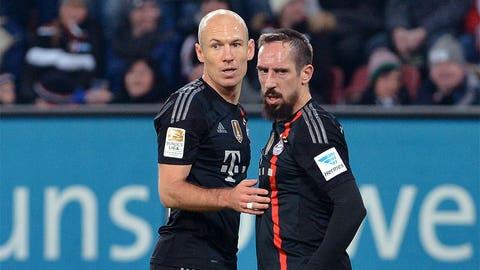 Arjen Robben and Franck Ribery, M, Bayern Munich