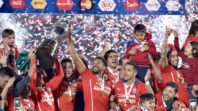 Argentina lead FIFA's latest rankings, Chile on rise