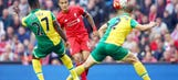 Sublime Martin finish earns Norwich City a draw at Liverpool