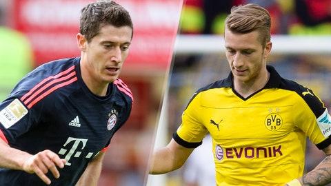 Bundesliga: Bayern Munich vs. Borussia Dortmund (live, Sunday, FS2, FOX Sports Go, 11:30 a.m. ET)