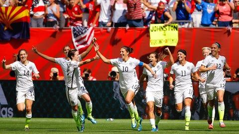 July 5 -- Carli Lloyd leads USA to third World Cup triumph