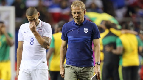 July 22 -- USA crash out of Gold Cup 2-1 to Jamaica
