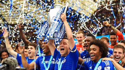 May 3 -- Chelsea win Premier League with three games to spare