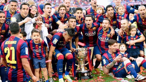 May 17 -- Barcelona win La Liga for the seventh time in 10 seasons