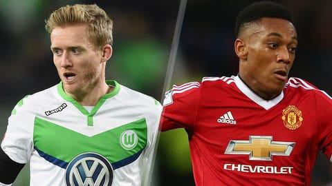 Wolfsburg v Manchester United (live, Tuesday, FS1, FOX Sports Go, 2 p.m. ET)
