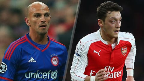 Olympiakos v Arsenal (live, Wednesday, FS2, FOX Sports Go, 2 p.m. ET)