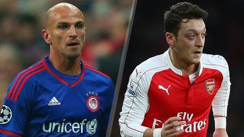 Olympiakos v Arsenal (live, Wednesday, FS2, FOX Sports Go, 2 p.m. ET)