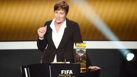 2012: Wins FIFA Women's World Player of the Year award