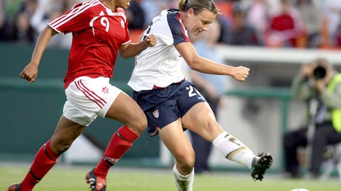 2009: Scores her 100th international goal