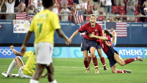 2004: Scores 2004 Olympic Gold medal winner in extra time