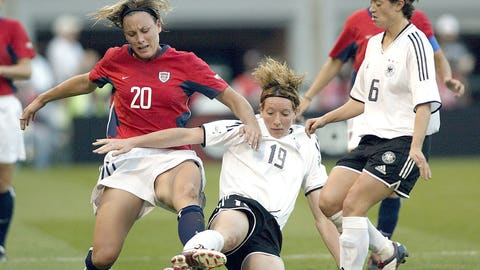 2001: Makes her international debut