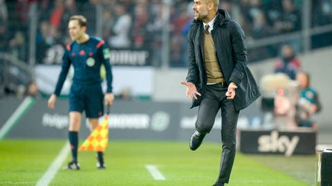 Guardiola is going ...