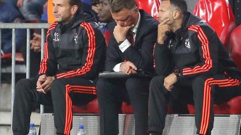 September 15: PSV 2, Manchester United 1