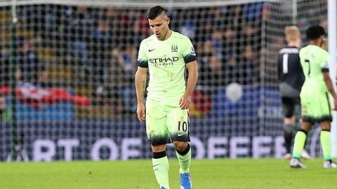 Sergio Aguero's not there yet ...