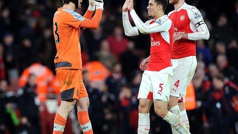 Arsenal the big winners Monday