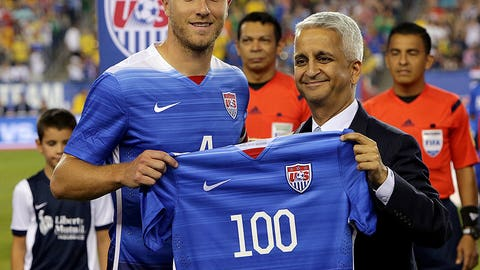 Michael Bradley wins 100th cap against Honduras