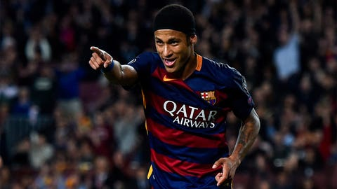 Right winger: Neymar (Barcelona/Brazil)