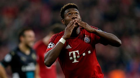 Left back: David Alaba (Bayern Munich/Austria)