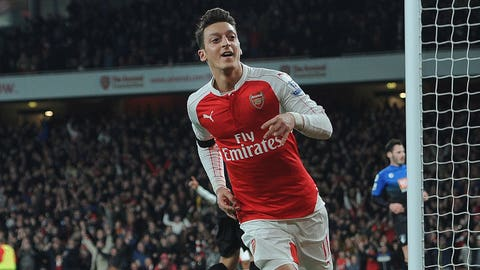 Central midfielder: Mesut Ozil (Arsenal/Germany)