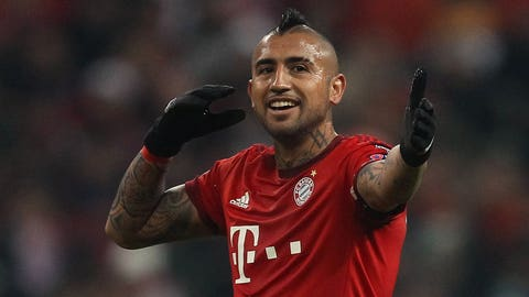 Defensive midfielder: Arturo Vidal (Bayern Munich/Chile)