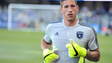 San Jose Earthquakes goalkeeper David Bingham