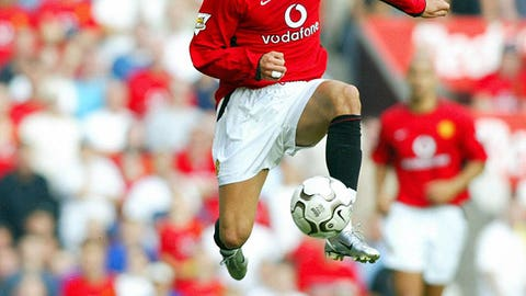 Debut with Manchester United (Aug. 16, 2003)