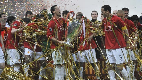 Winning Champions League with Manchester United (May 21, 2008)
