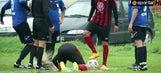 Bulgarian fourth-tier match devolves into childish splash fight