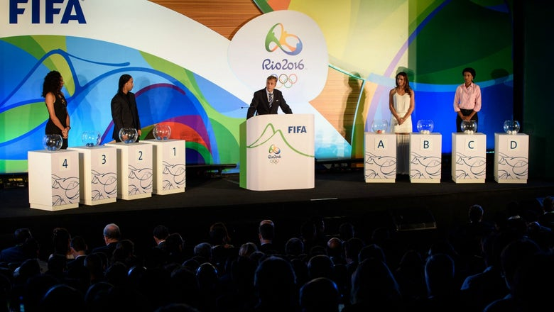 Olympics soccer draw pits host Brazil against South Africa, Iraq and Denmark