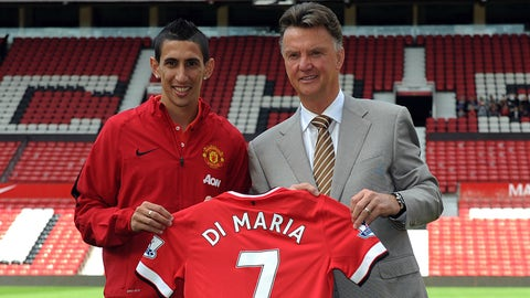 Angel Di Maria: Real Madrid to Manchester United, €75M (2014)