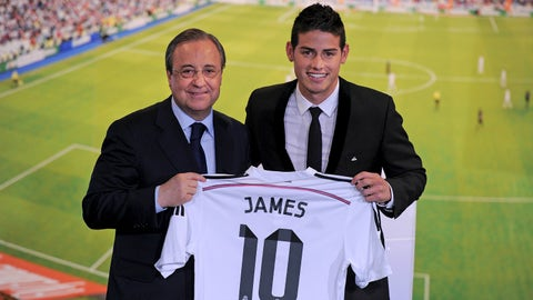 James Rodriguez: AS Monaco to Real Madrid, €79.8M (2014)