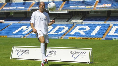 Zinedine Zidane: Juventus to Real Madrid, €75M (2001)