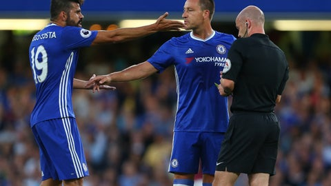 Diego Costa will set a new record for bookings in a season