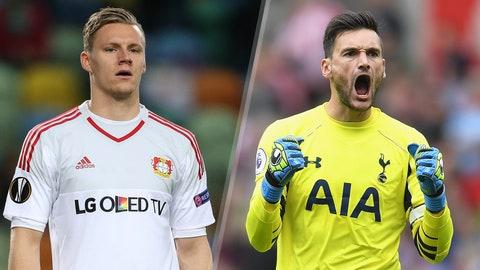 Group E: Bayer Leverkusen, Tottenham Hotspur (CSKA Moscow, Monaco)