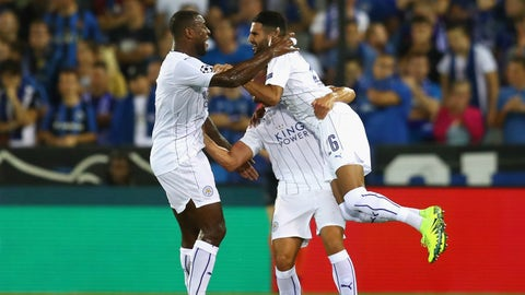 Riyad Mahrez leads Leicester to historic victory