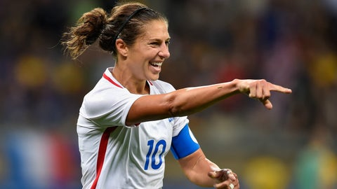 Is Carli Lloyd really going to be a forward now?