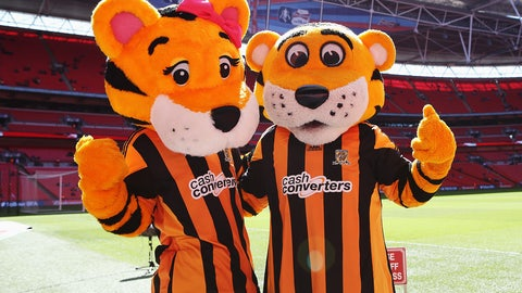 Roary and Amber the Tigers -- Hull City